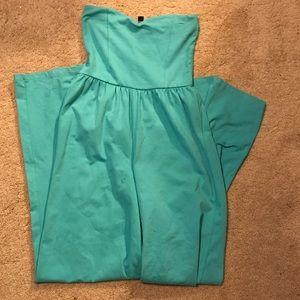 ASOS Turquoise Bandeau WideLeg Jumpsuit size 6